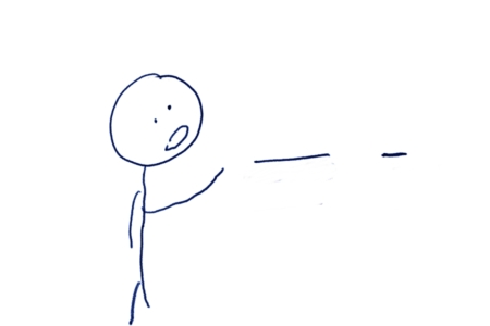 A Stick Figure strikes out at one of those hypen single bars.