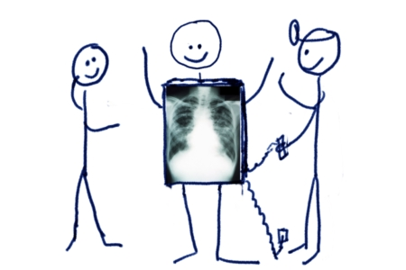 A stick figure gets an x-ray -- and it's awesome!